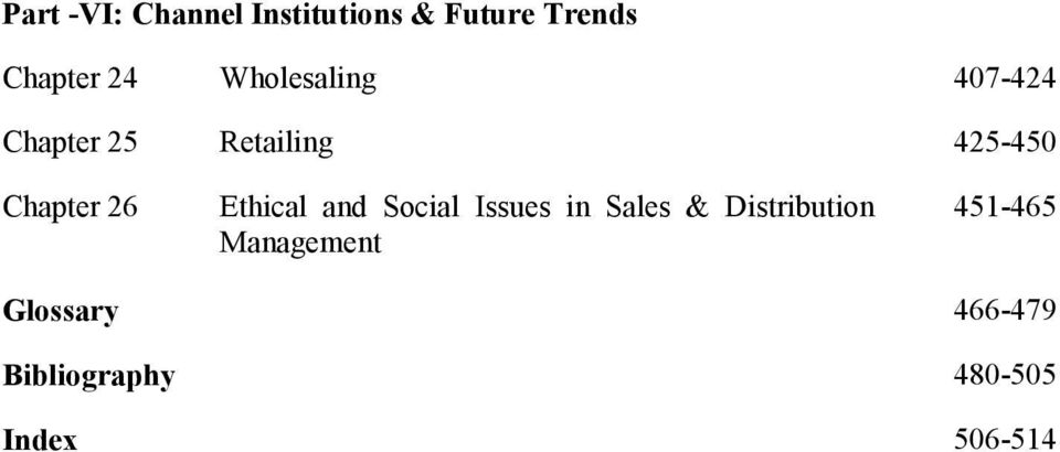 Ethical and Social Issues in Sales & Distribution