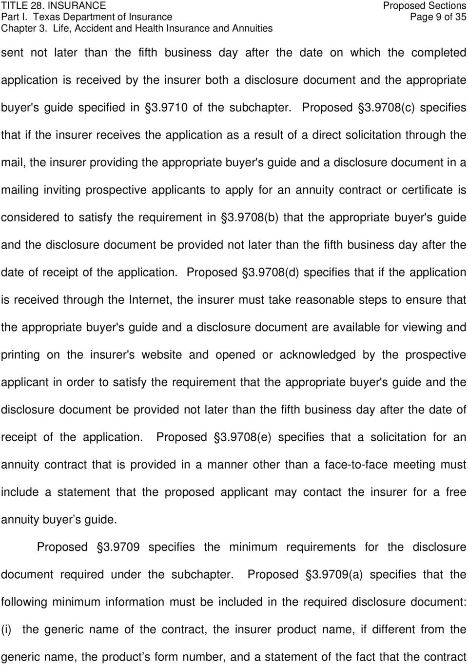 appropriate buyer's guide specified in 3.9710 of the subchapter. Proposed 3.