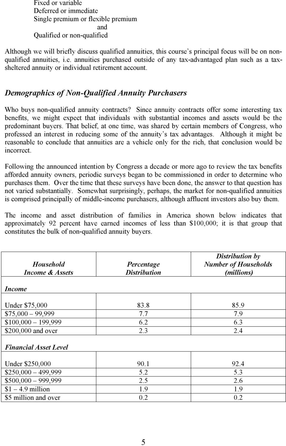 Demographics of Non-Qualified Annuity Purchasers Who buys non-qualified annuity contracts?
