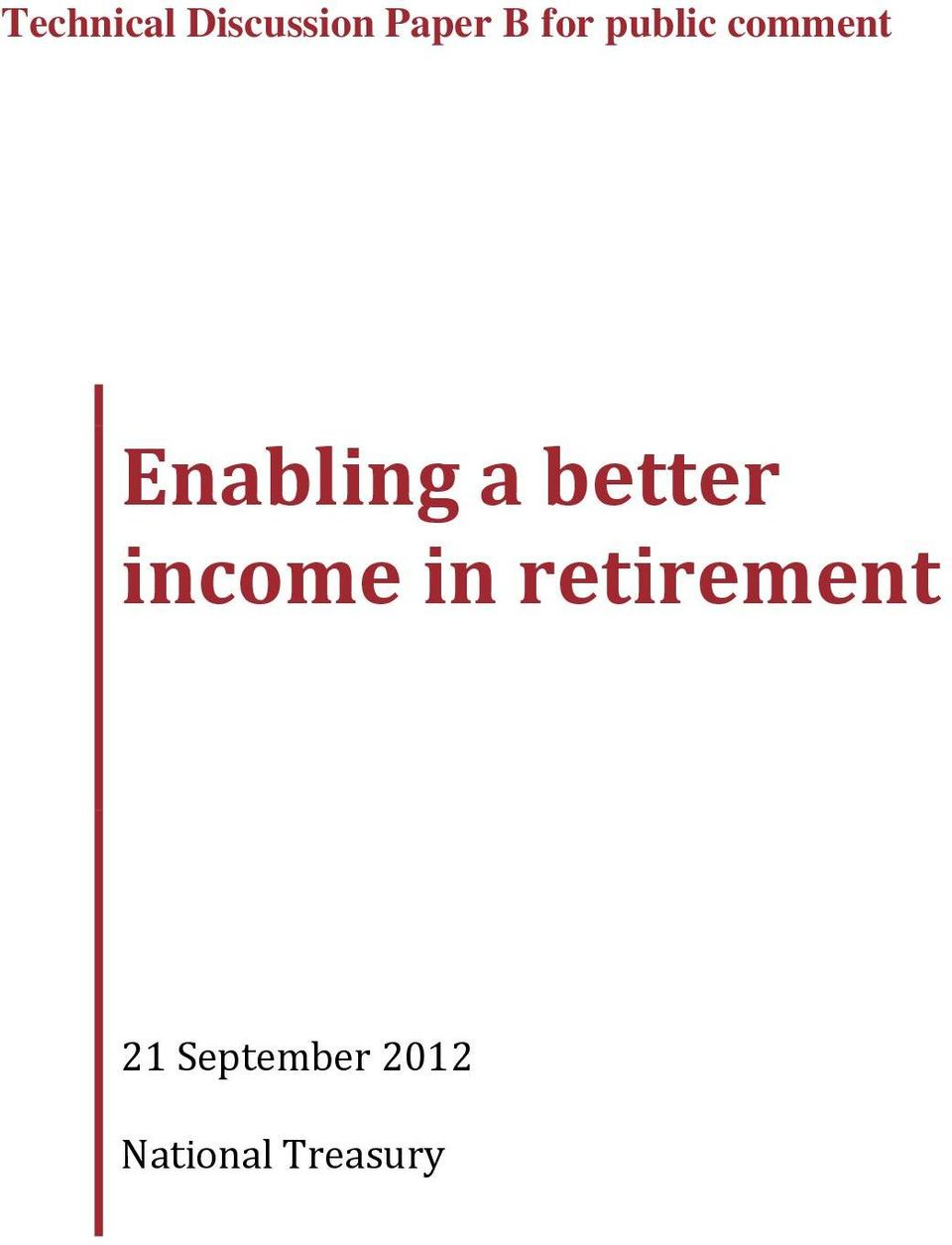 better income in retirement 21