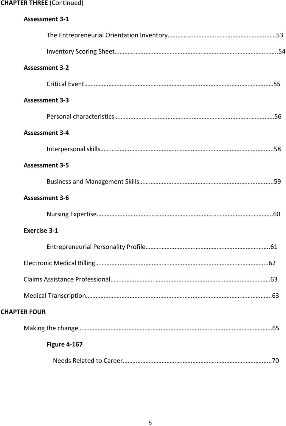 .58 Assessment 3 5 Business and Management Skills..59 Assessment 3 6 Nursing Expertise.