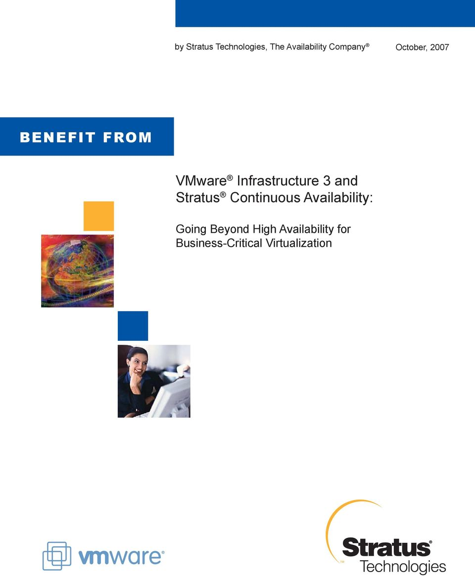 Infrastructure 3 and Stratus Continuous Availability: