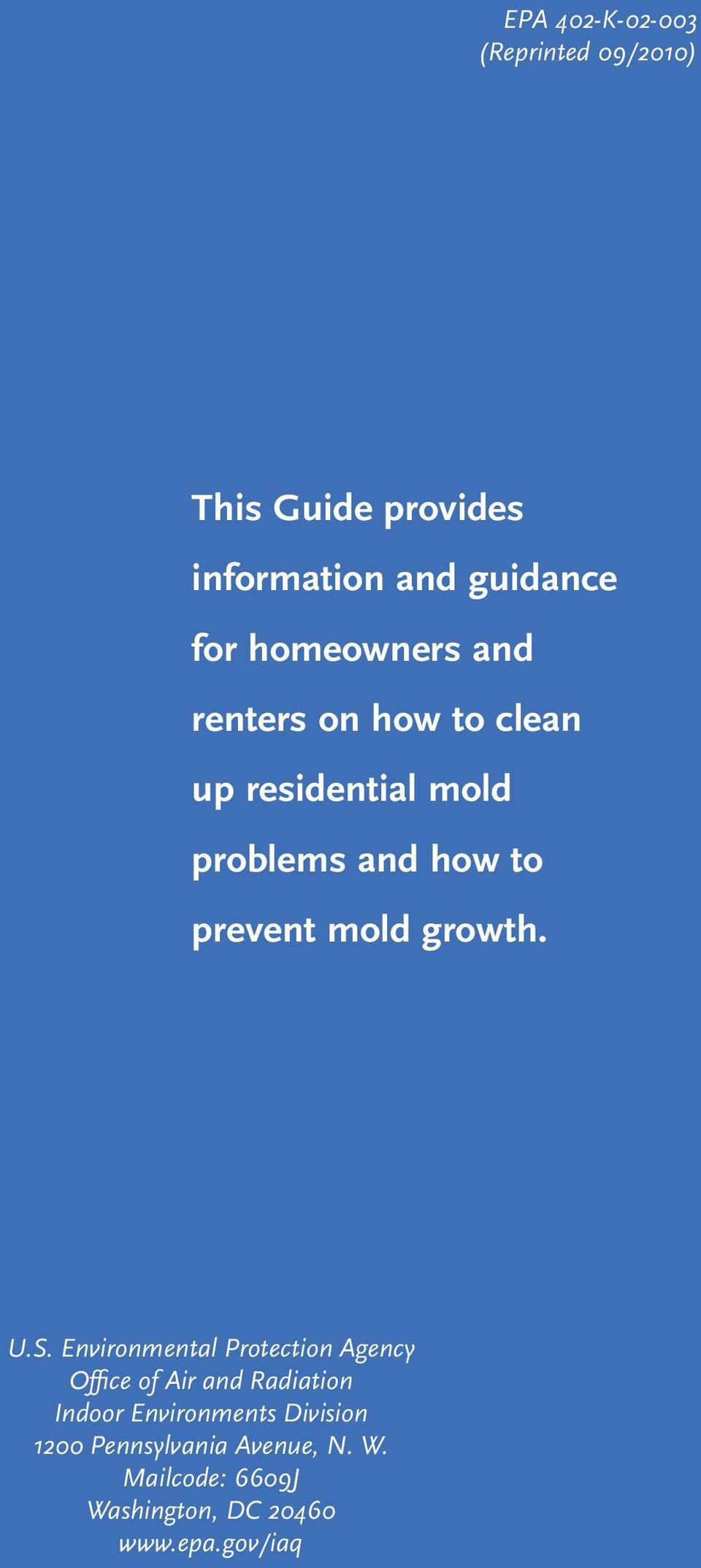mold growth. U.S.