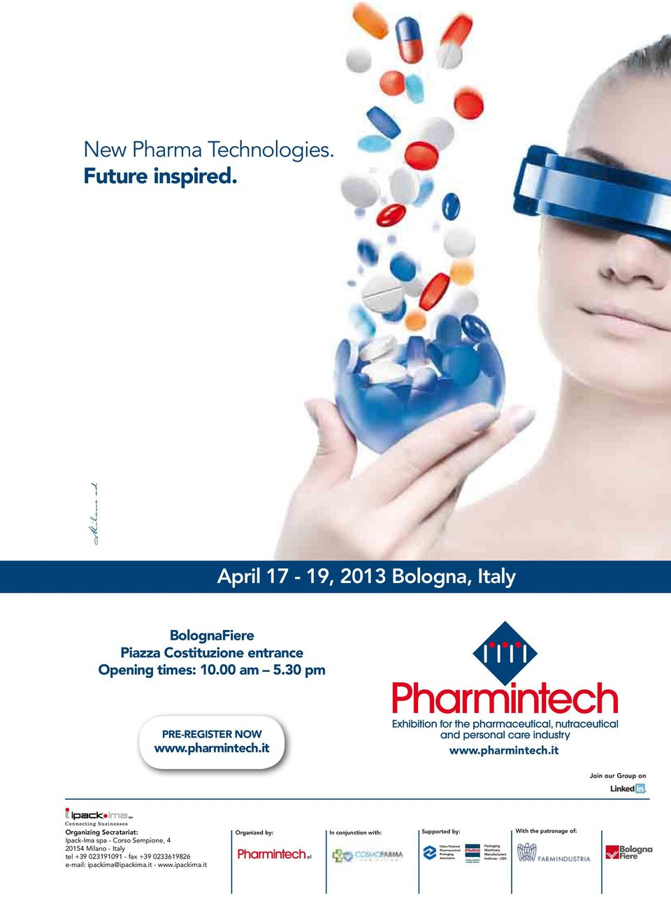 30 pm 10.00 am 5.30 pm Pre-register nowpre-register now www.pharmintech.