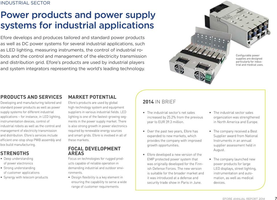 Efore s products are used by industrial players and system integrators representing the world s leading technology.