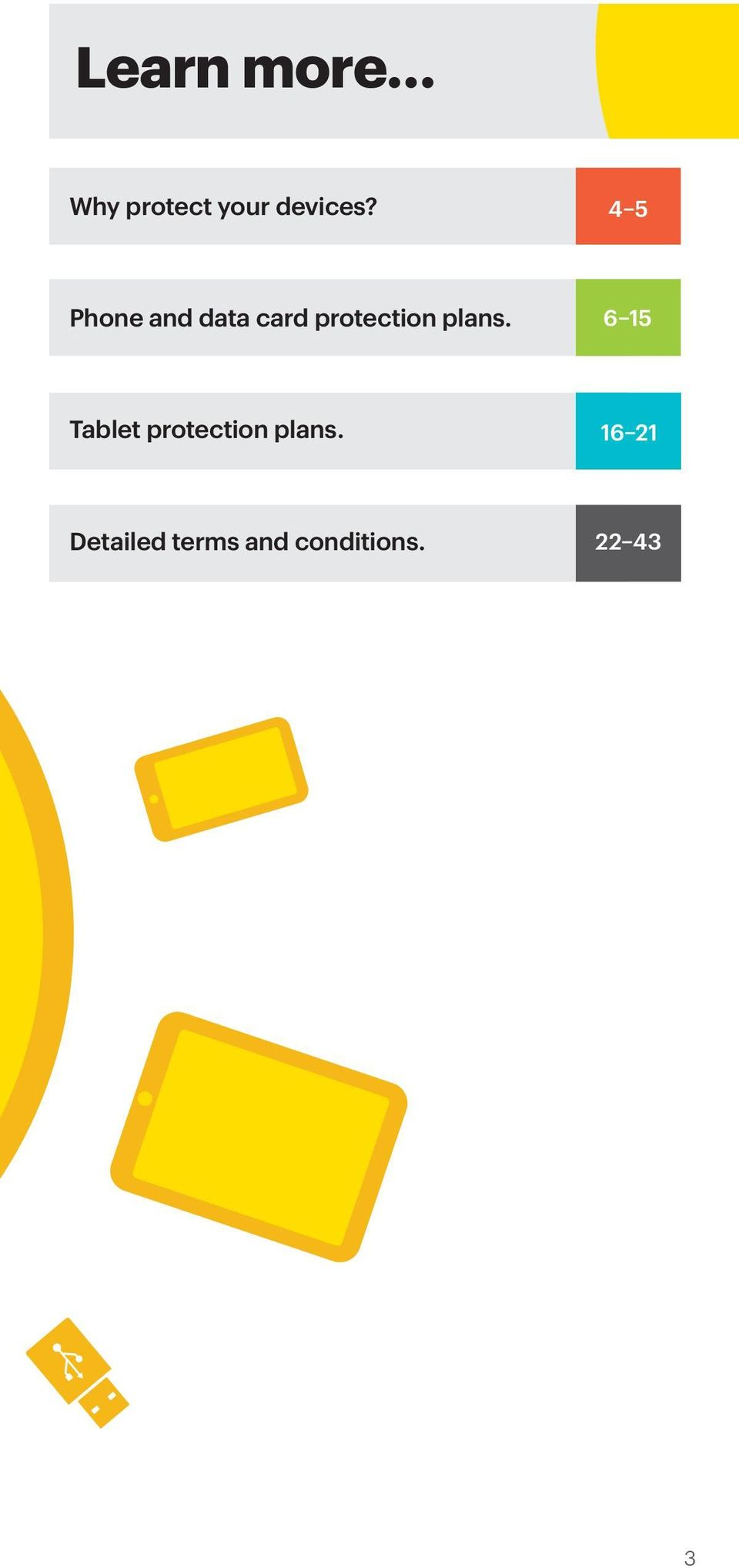 plans. 6 15 Tablet protection plans.
