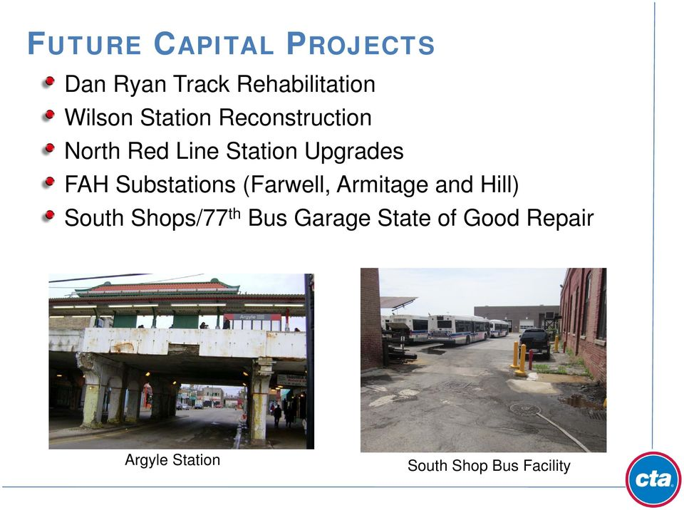 Substations (Farwell, Armitage and Hill) South Shops/77 th Bus