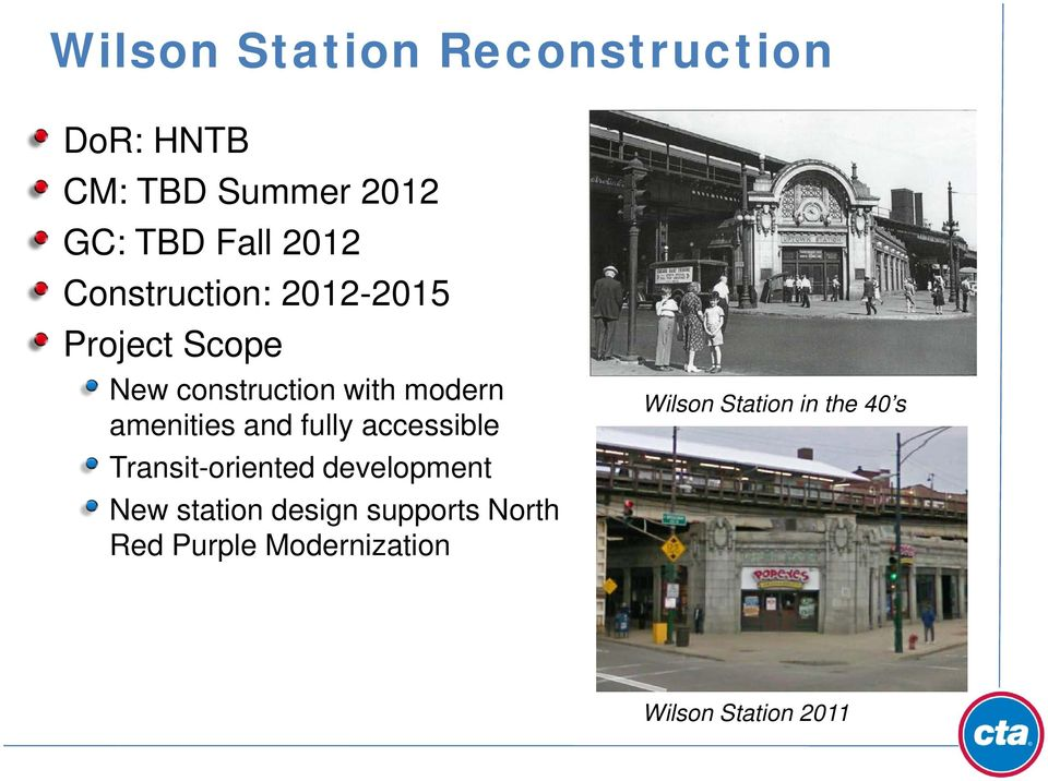 and fully accessible Transit-oriented development New station design supports
