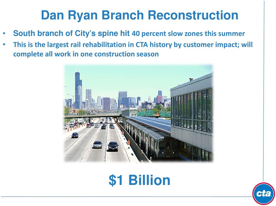 largest rail rehabilitation in CTA history by customer
