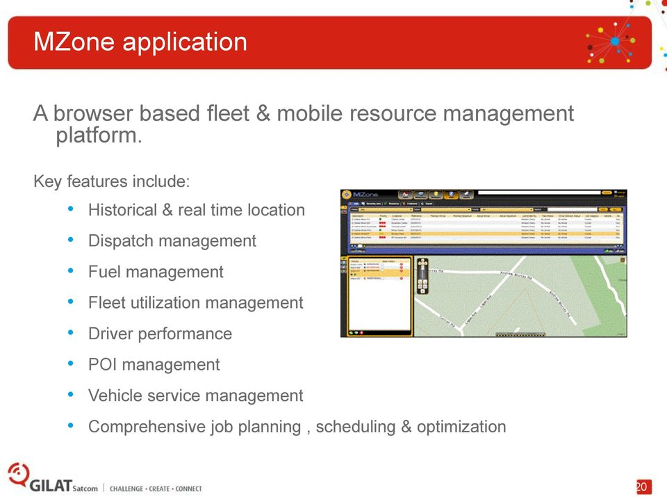 management Fleet utilization management Driver performance POI management