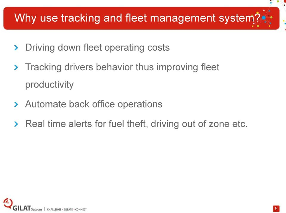 behavior thus improving fleet productivity Automate back