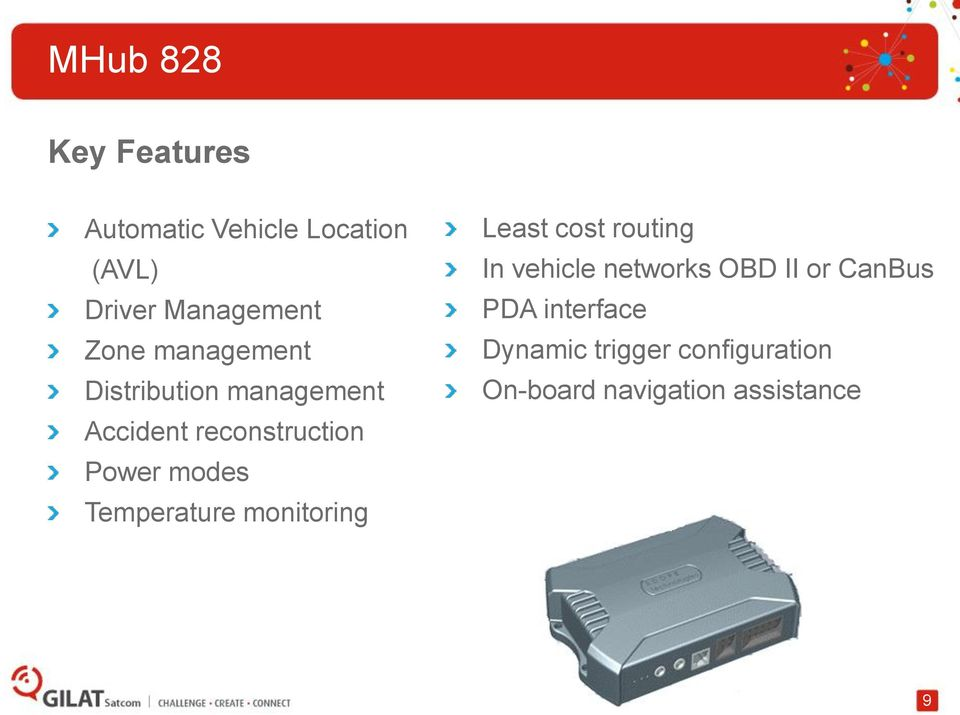 Temperature monitoring Least cost routing In vehicle networks OBD II or
