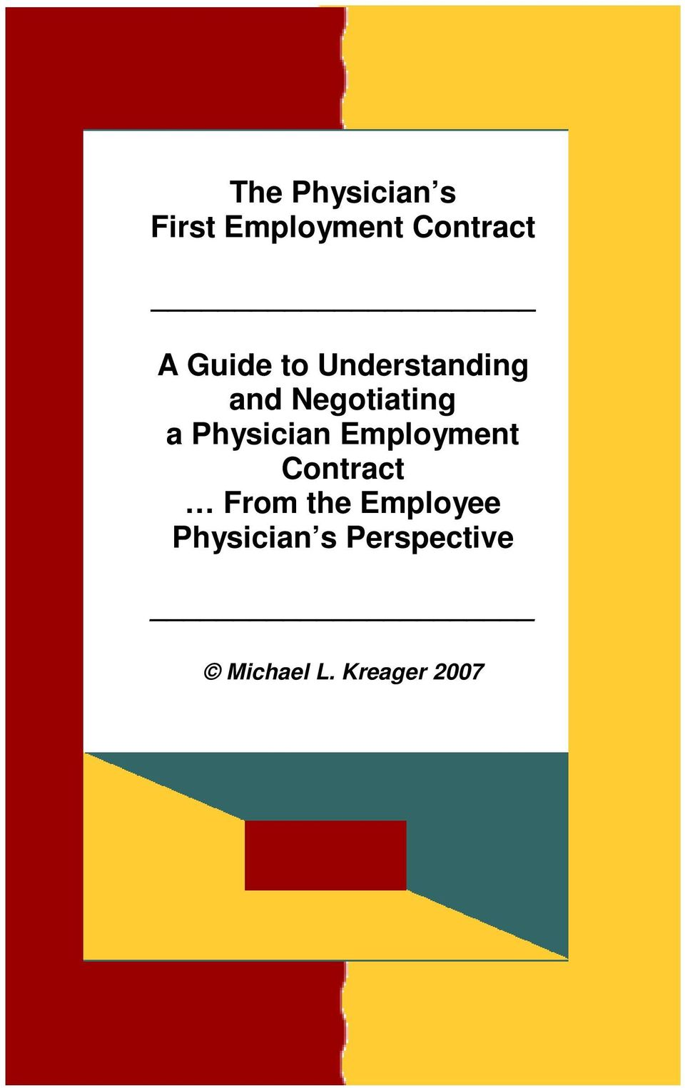 Physician Employment Contract From the