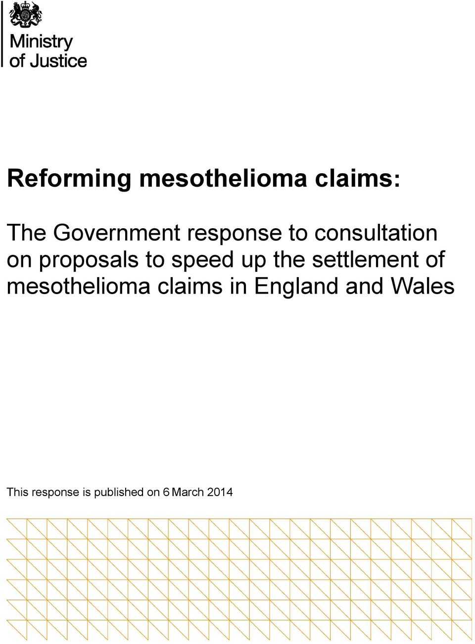 the settlement of mesothelioma claims in England