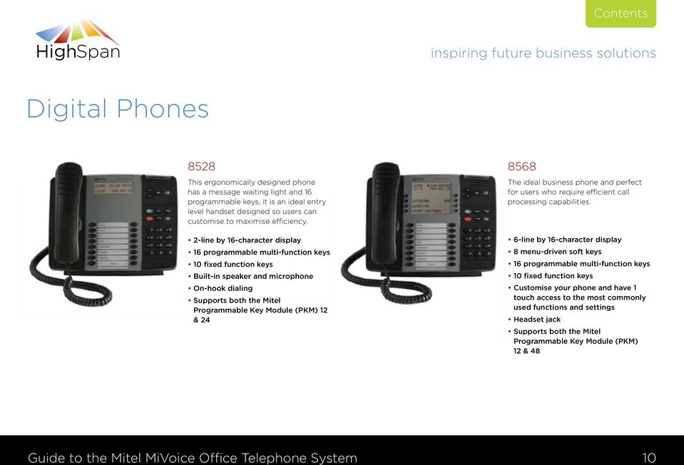 8568 The ideal business phone and perfect for users who require efficient call processing capabilities.