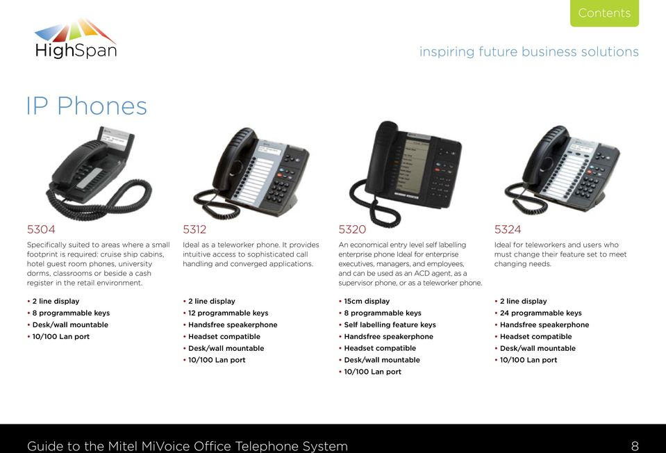 An economical entry level self labelling enterprise phone Ideal for enterprise executives, managers, and employees, and can be used as an ACD agent, as a supervisor phone, or as a teleworker phone.
