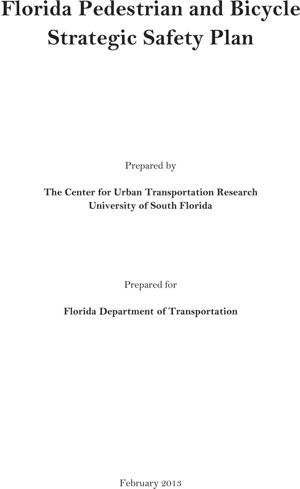 Transportation Research University of South