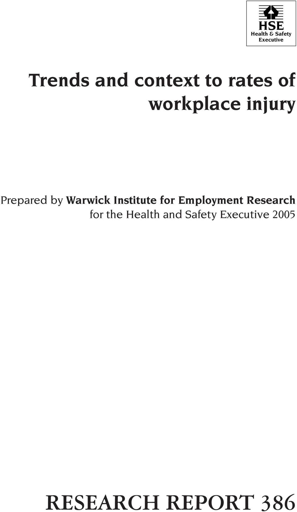 by Warwick Institute for Employment Research