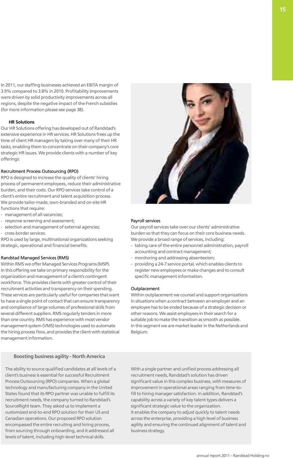 HR Solutions Our HR Solutions offering has developed out of Randstad s extensive experience in HR services.