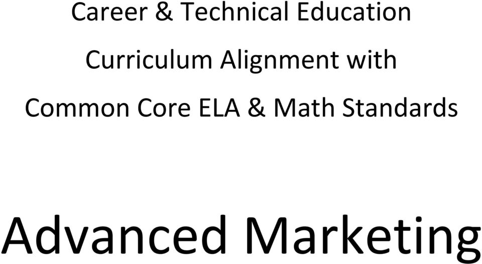 Alignment with Common Core