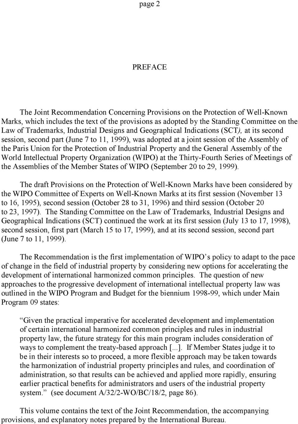 Protection of Industrial Property and the General Assembly of the World Intellectual Property Organization (WIPO) at the Thirty-Fourth Series of Meetings of the Assemblies of the Member States of