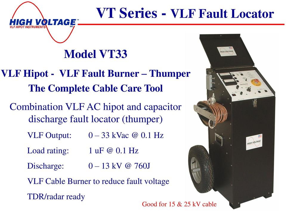 Cable Fault Locator And Thumpers : World leader in hv testing technology pdf