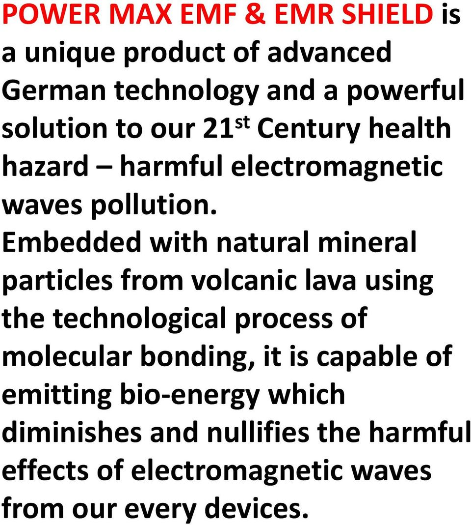 Embedded with natural mineral particles from volcanic lava using the technological process of molecular