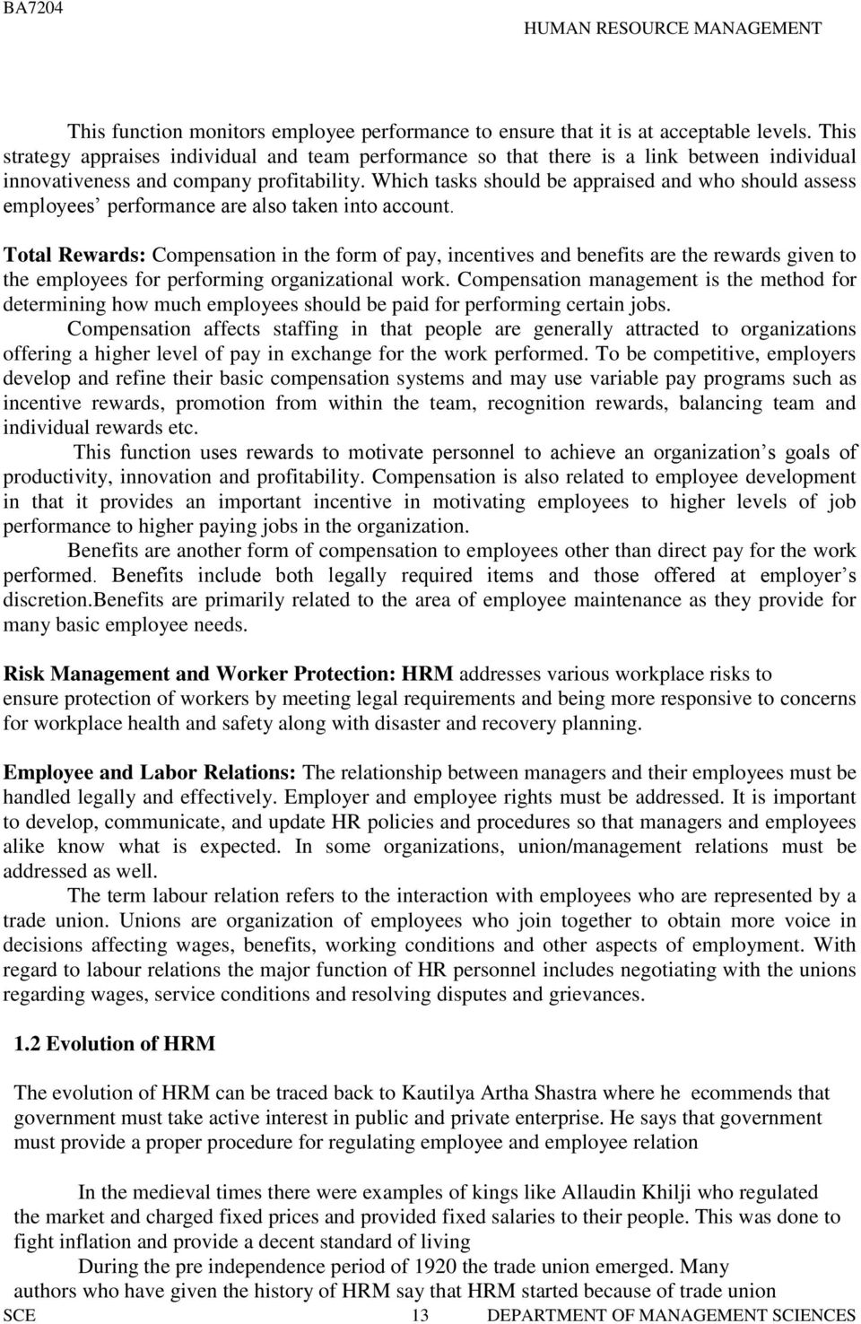 a course material on human resource management pdf which tasks should be appraised and who should assess employees performance are also taken into account