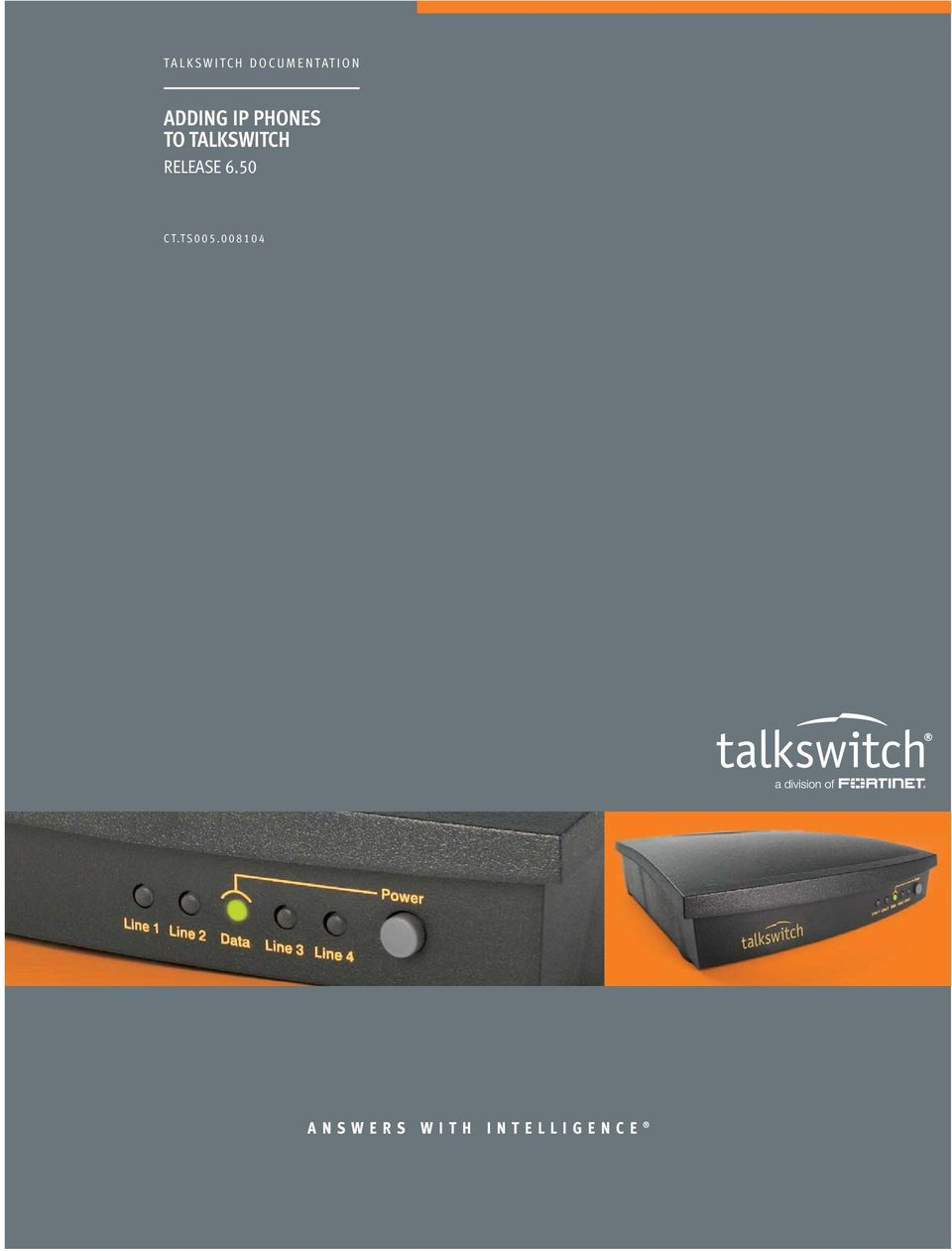 TALKSWITCH RELEASE 6.50 CT.