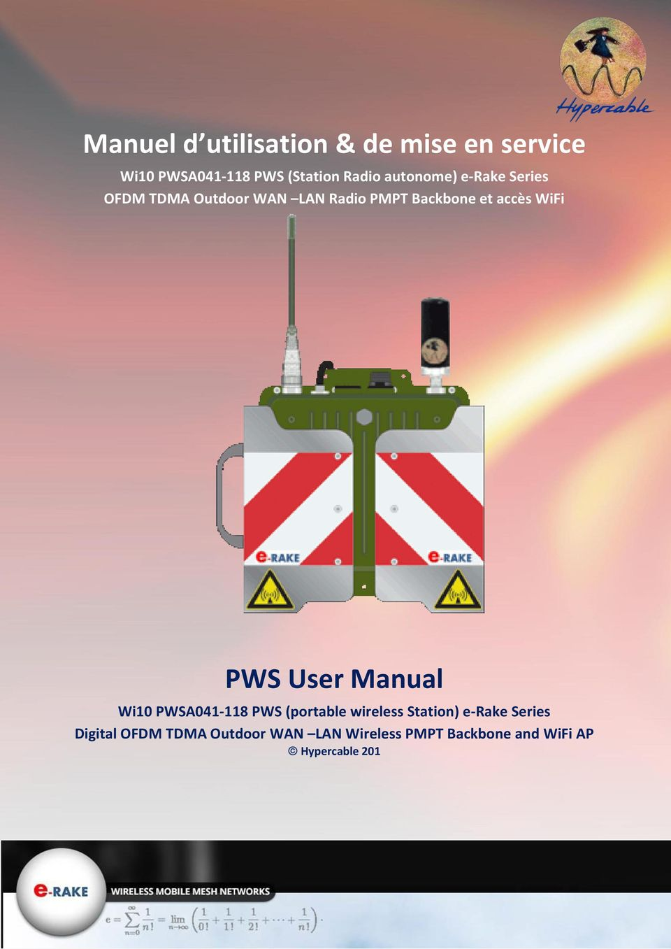 WiFi PWS User Manual Wi10 PWSA041-118 PWS (portable wireless Station) e-rake