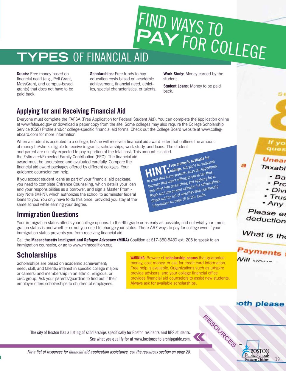 Student Loans: Money to be paid back. Applying for and Receiving Financial Aid Everyone must complete the FAFSA (Free Application for Federal Student Aid).