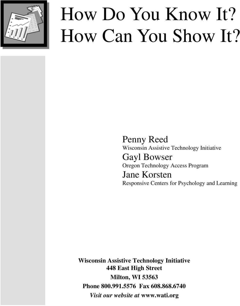 Access Program Jane Korsten Responsive Centers for Psychology and Learning Wisconsin
