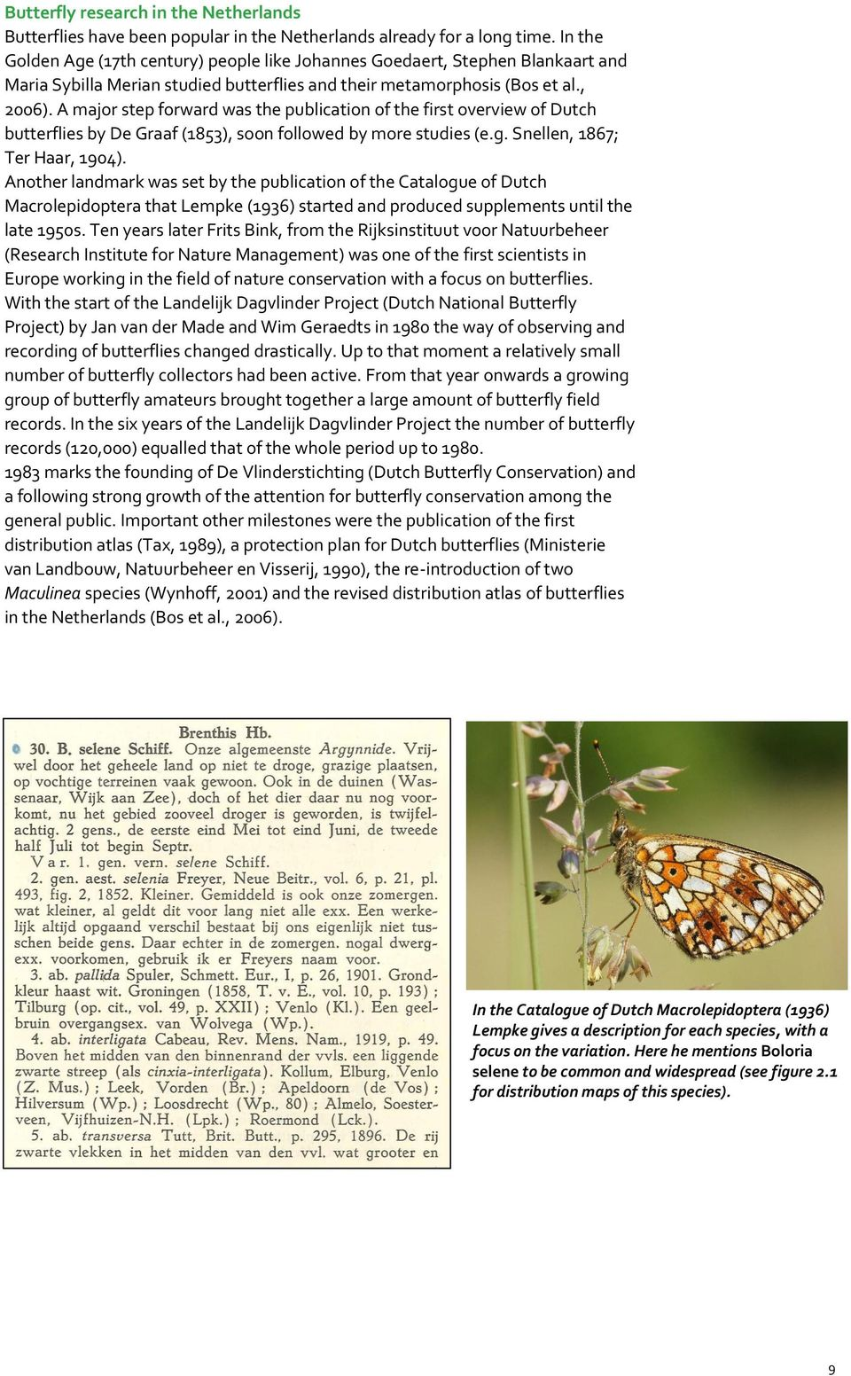 A major step forward was the publication of the first overview of Dutch butterflies by De Graaf (1853), soon followed by more studies (e.g. Snellen, 1867; Ter Haar, 1904).