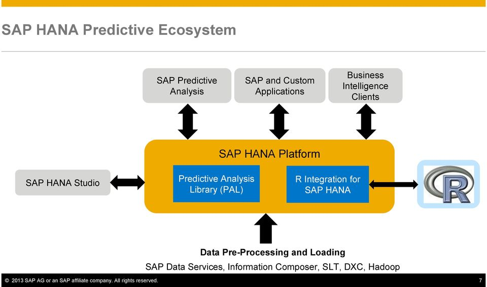 Library (PAL) R Integration for SAP HANA Data Pre-Processing and Loading SAP Data