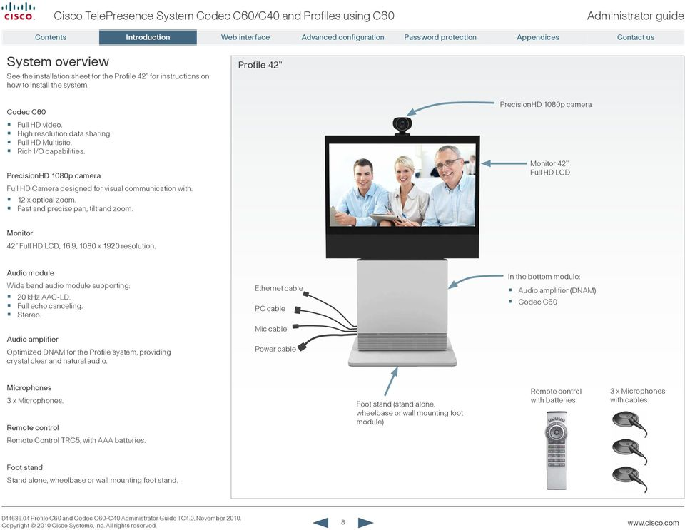 administrator guide  for cisco telepresence system codec