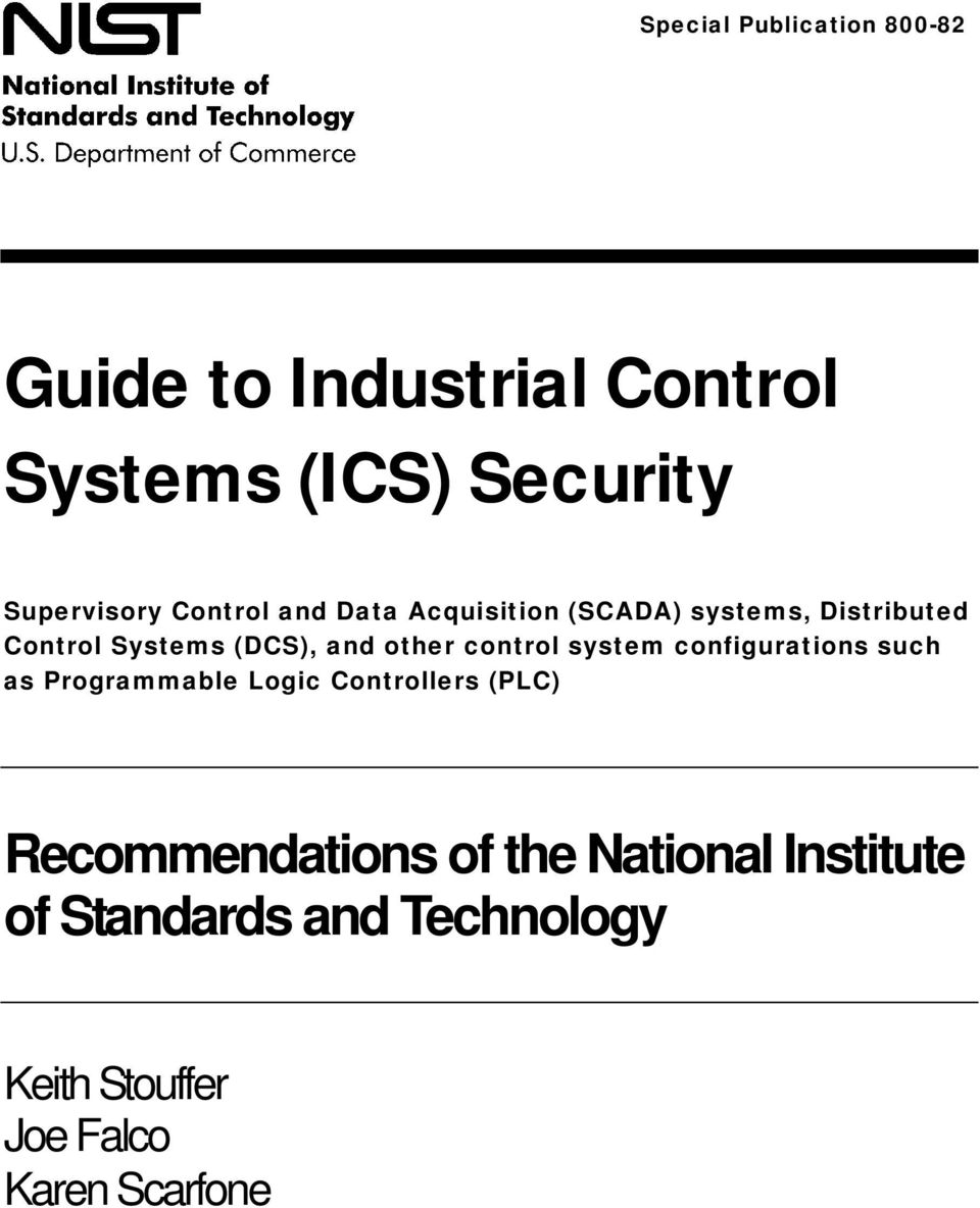 control system configurations such as Programmable Logic Controllers (PLC) Recommendations