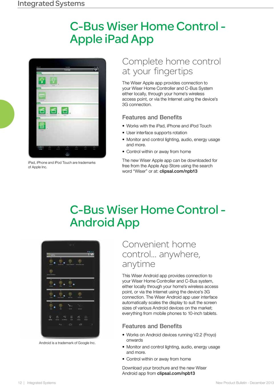 Works With The Ipad, Iphone And Ipod Touch User Interface Supports Rotation  Monitor And Control