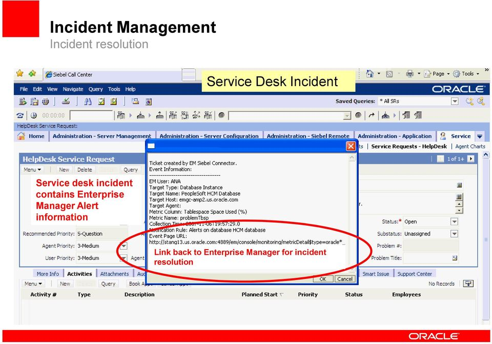 contains Enterprise Manager Alert information