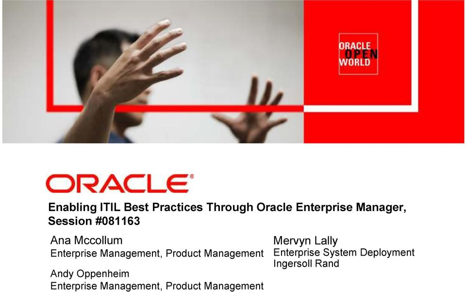 Product Management Andy Oppenheim Enterprise Management,