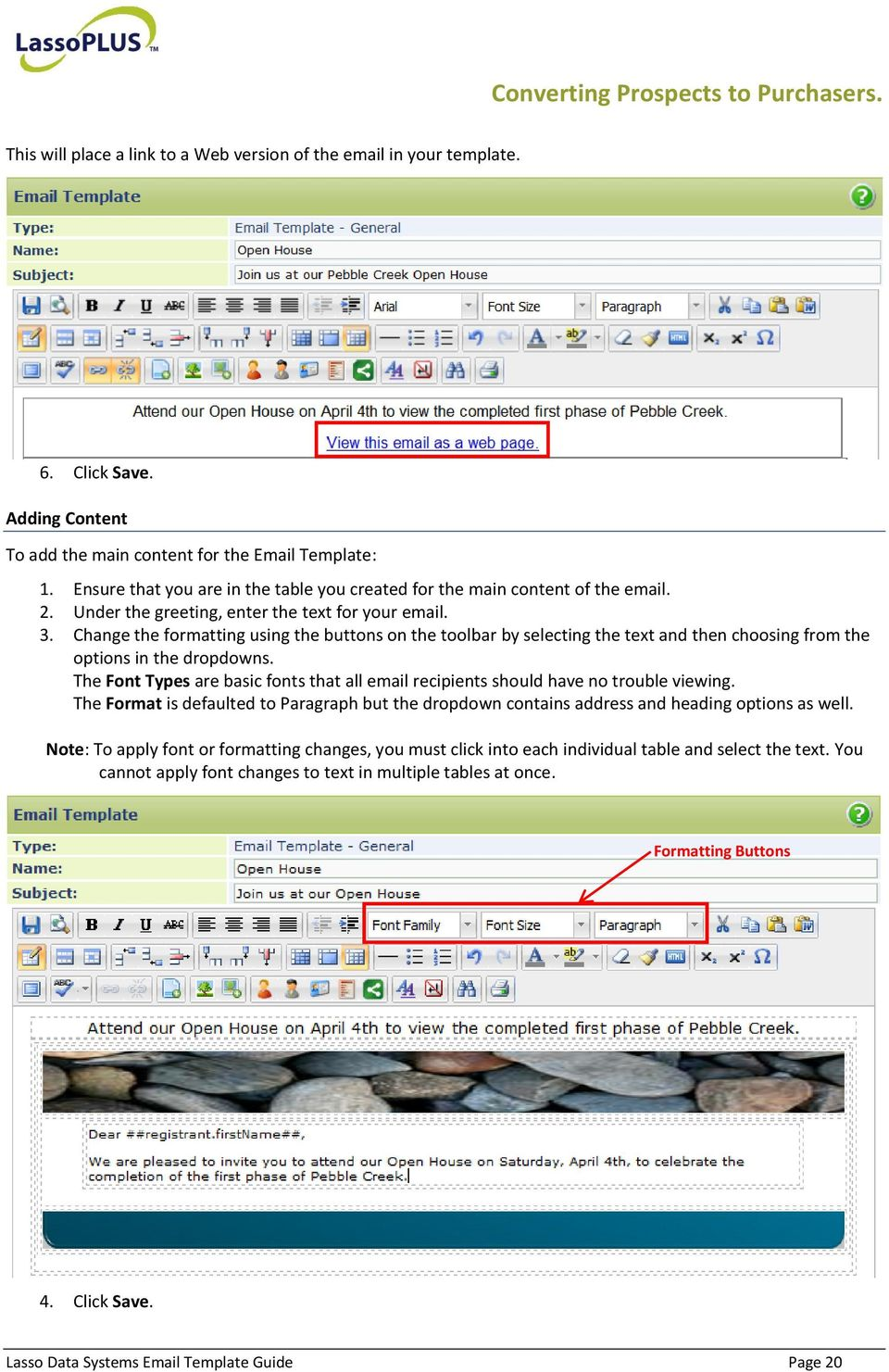 Change the formatting using the buttons on the toolbar by selecting the text and then choosing from the options in the dropdowns.