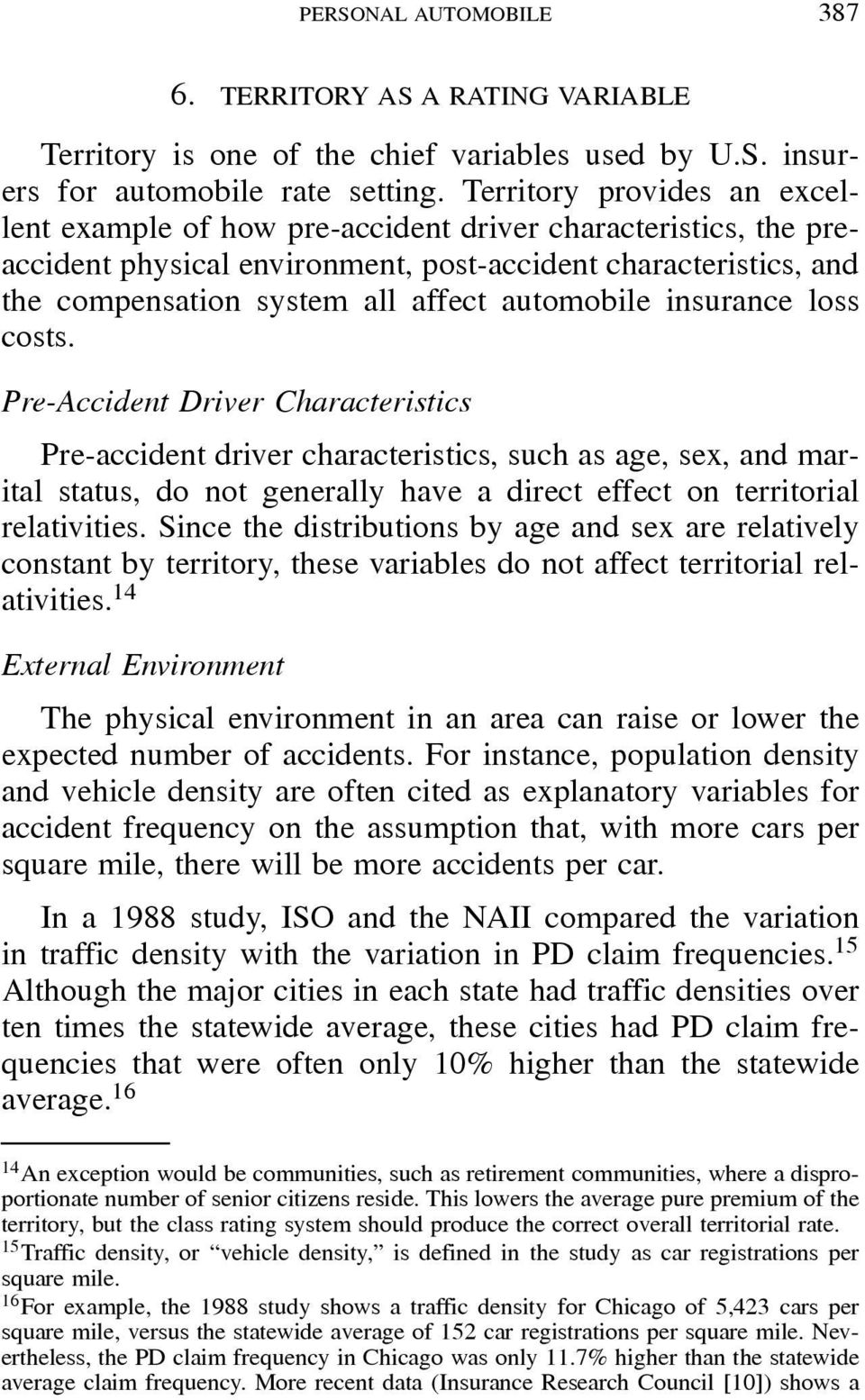 automobile insurance loss costs.