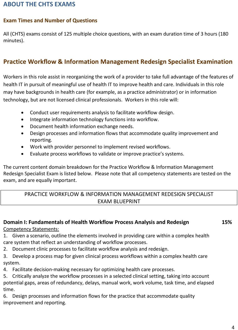 Certified healthcare technology specialist chts examinations pursuit of meaningful use of health it to improve health and care malvernweather Choice Image