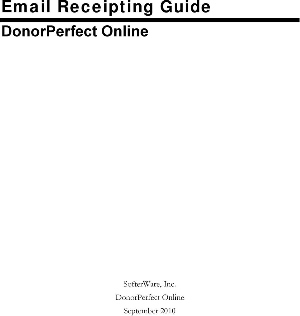 Inc. DonorPerfect