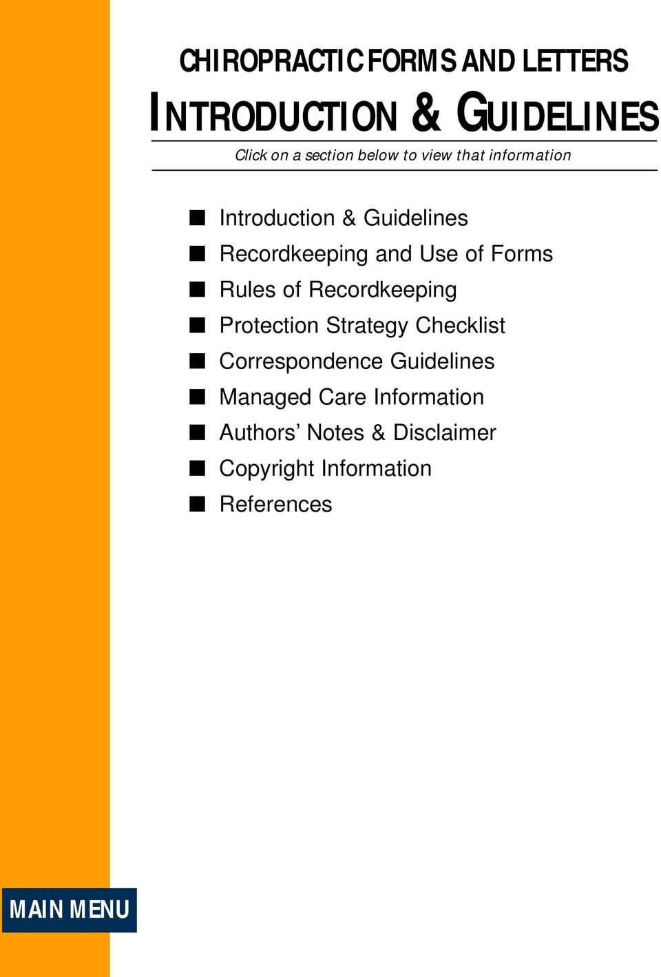of Recordkeeping Protection Strategy Checklist Correspondence Guidelines Managed