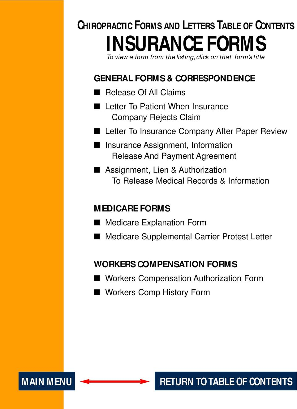 Release And Payment Agreement Assignment, Lien & Authorization To Release Medical Records & Information MEDICARE FORMS Medicare Explanation Form Medicare