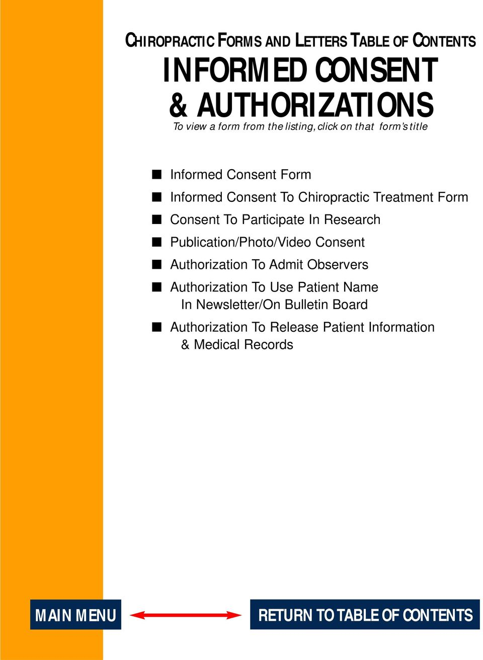 In Research Publication/Photo/Video Consent Authorization To Admit Observers Authorization To Use Patient Name In