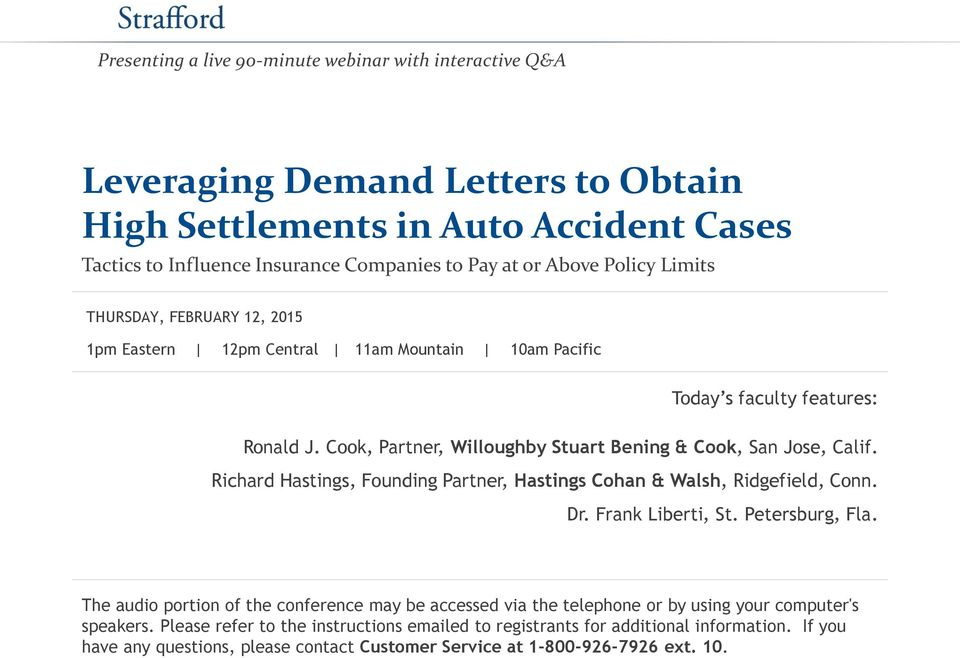 Leveraging Demand Letters To Obtain High Settlements In Auto