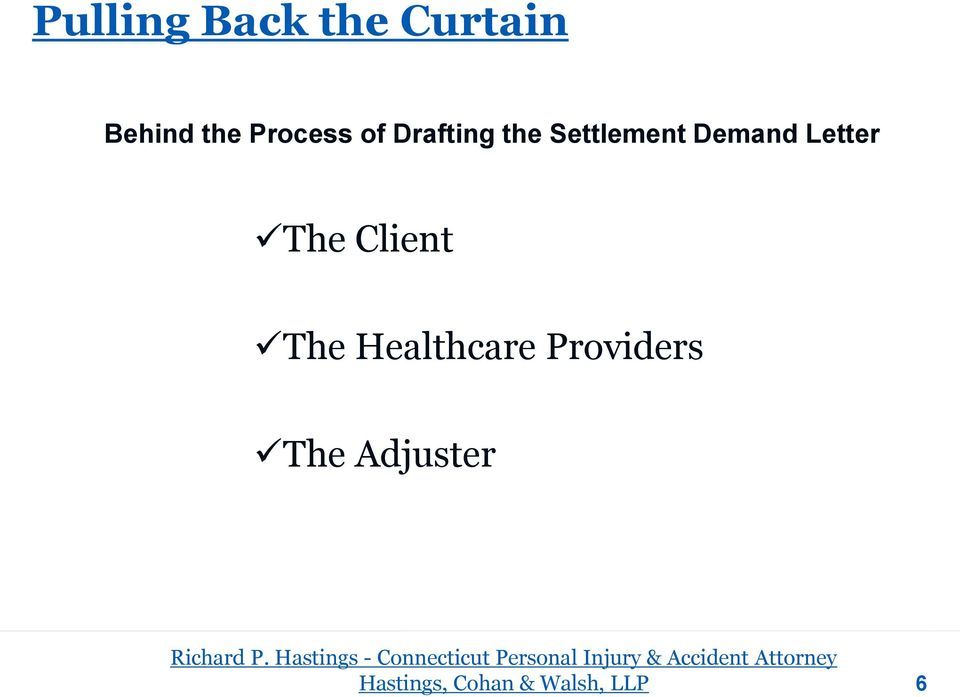 providers the adjuster richard p