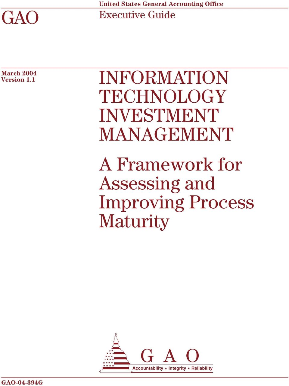 1 INFORMATION TECHNOLOGY INVESTMENT MANAGEMENT A