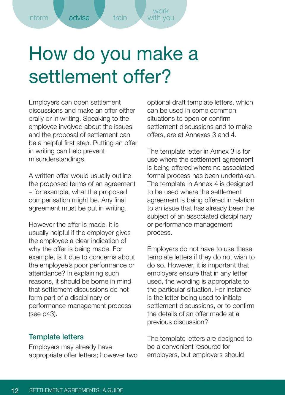 A written offer would usually outline the proposed terms of an agreement for example, what the proposed compensation might be. Any final agreement must be put in writing.